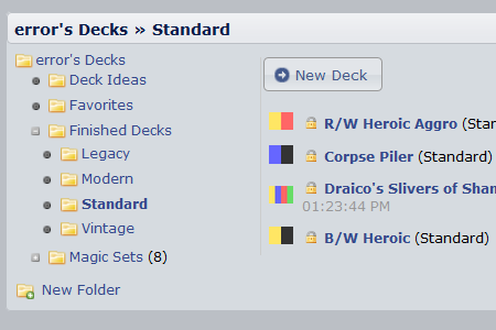 DeckStats.net Magic: The Gathering Deck Builder + Statistics